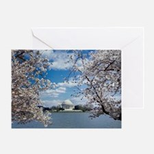 Thomas Jefferson Memorial with Cherr Greeting Card