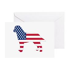 USA Labrador Greeting Card