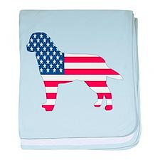USA Labrador baby blanket