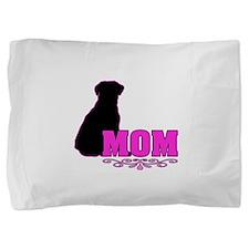 Girly Labrador Mom Pillow Sham