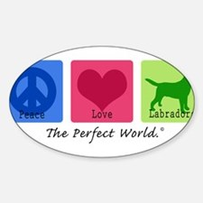 Peace Love Labs Sticker (Oval)