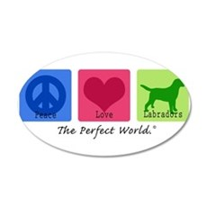 Peace Love Labs 20x12 Oval Wall Decal