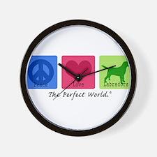 Peace Love Labs Wall Clock