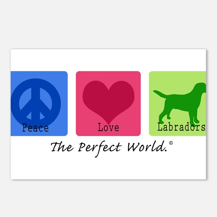 Peace Love Labs Postcards (Package of 8)