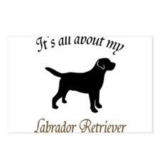 All About Lab Postcards (Package of 8)