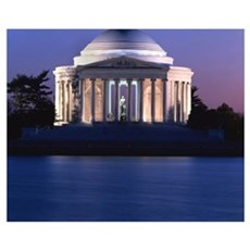 Thomas Jefferson Memorial at Dusk Poster