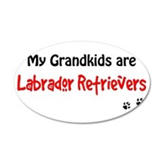 Grandkid Labradors Wall Decal