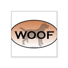 """Woof.png Square Sticker 3"""" x 3"""""""