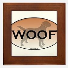 Woof.png Framed Tile