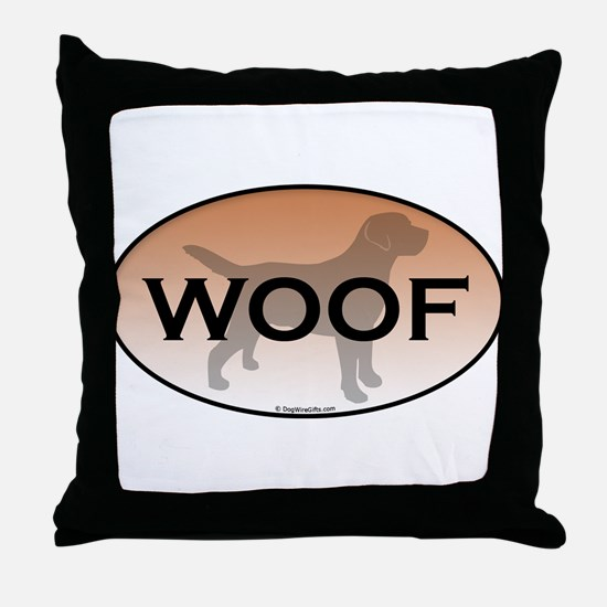 Woof.png Throw Pillow