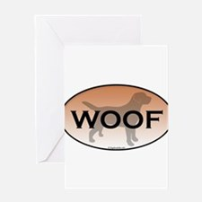Woof.png Greeting Card