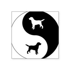"Yin Yang Lab Square Sticker 3"" x 3"""