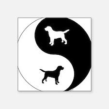 "Yin Yang Lab Square Sticker 3"" x 3"""