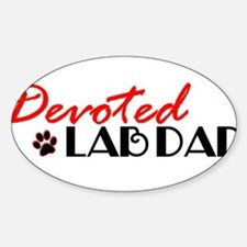 Devoted Lab Dad Decal