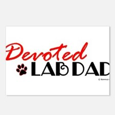 Devoted Lab Dad Postcards (Package of 8)
