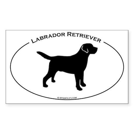 Labrador Oval Text Sticker (Rectangle)
