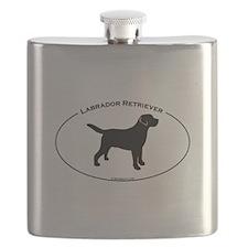 Labrador Oval Text Flask