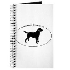 Labrador Oval Text Journal