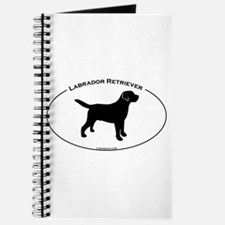 Labrador Oval Text Journal