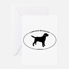 Labrador Oval Text Greeting Card