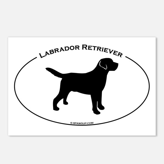 Labrador Oval Text Postcards (Package of 8)