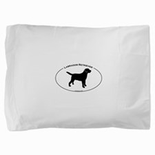 Labrador Oval Text Pillow Sham