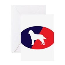 Red White Blue Lab Greeting Card