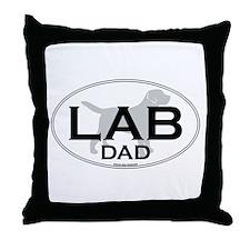 LABRADOR DAD II Throw Pillow