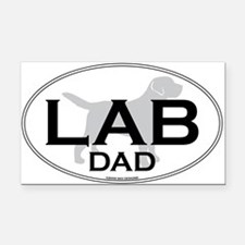 LABRADOR DAD II Rectangle Car Magnet