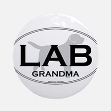 LAB GRANDMA II Ornament (Round)