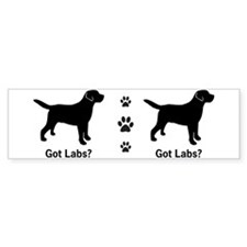 Got Labs? Silhouette Bumper Sticker