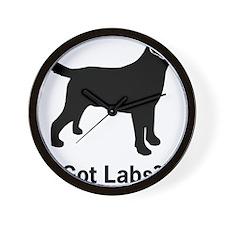 Got Labs? Silhouette Wall Clock