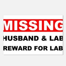 Missing Husband Lab Postcards (Package of 8)