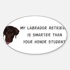 Smart Labrador Retriever Decal