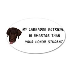 Smart Labrador Retriever Wall Decal