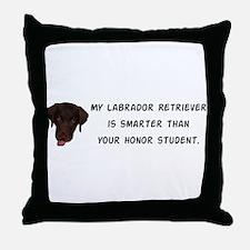 Smart Labrador Retriever Throw Pillow