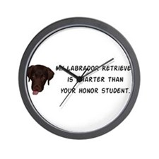 Smart Labrador Retriever Wall Clock