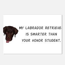 Smart Labrador Retriever Postcards (Package of 8)