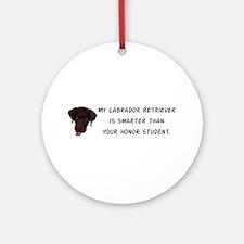 Smart Labrador Retriever Ornament (Round)