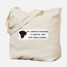 Smart Labrador Retriever Tote Bag