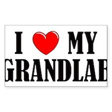 I Love My Grandlab Decal