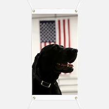 All-American Black Labrador Retriever Banner