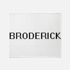 Broderick digital retro design Throw Blanket