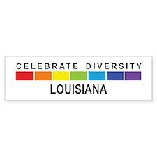 LOUISIANA - Celebrate Diversi Bumper Bumper Sticker