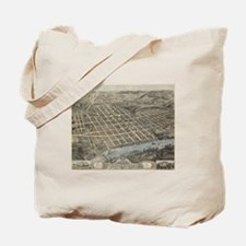 Vintage Map of Knoxville TN (1871) Tote Bag