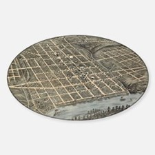 Vintage Map of Knoxville TN (1871) Decal