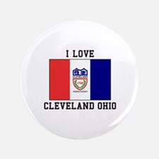 I Love Cleveland Button