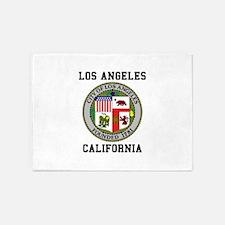 Los Angeles California 5'x7'Area Rug