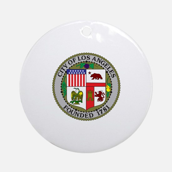 Los Angeles Seal Ornament (Round)
