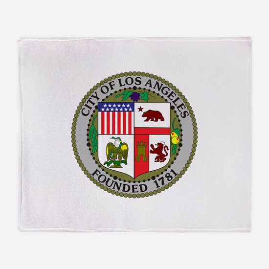 Los Angeles Seal Throw Blanket